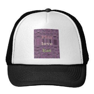 Purple  Loves &  Play Eat Africa South Traditional Trucker Hat