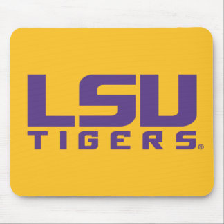 Purple LSU Tigers Logo Mouse Pad