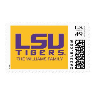 Purple LSU Tigers Logo Postage