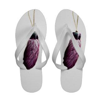 Purple Lucky Rabbit s Foot Flip-Flops