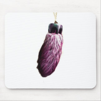 Purple Lucky Rabbit's Foot Mouse Pad