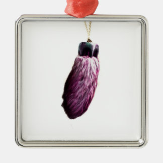 Purple Lucky Rabbit's Foot Christmas Tree Ornament
