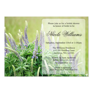 Purple Lupine Bridal Shower Invitation