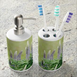Purple Lupine Flowers Bathroom Set