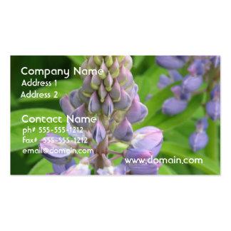 Purple Lupine Flowers Business Card