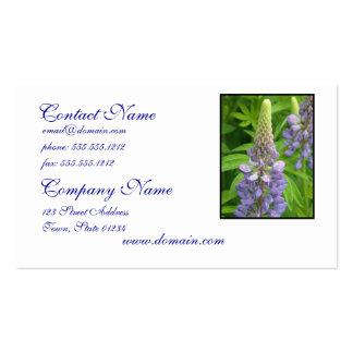 Purple Lupine Flowers Business Cards