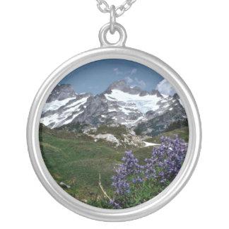 Purple Lupine Framing Icy Peaks flowers Jewelry