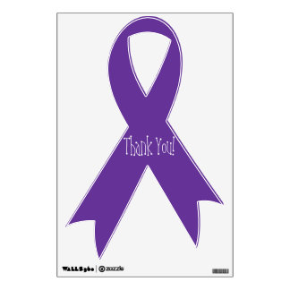 Purple Lupus Support Ribbon Wall Decal