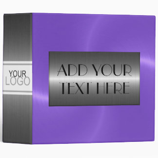 Purple Luxury Stainless Metallic Metal Look Binder