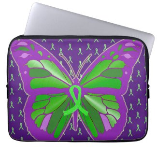 Purple Lyme Disease Awareness Ribbon Butterfl Case