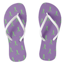 Purple Lyme Disease Awareness Sandals Flip Flops