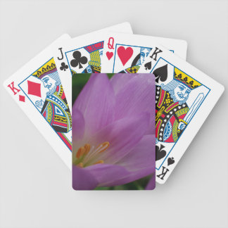 Purple macro flower colorful garden playing cards