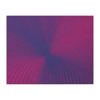 purple magenta mesh wood wall art