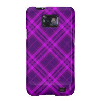 purple Magenta Plaids, Checks, Tartans Galaxy SII Covers