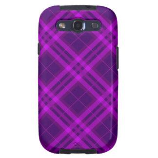 purple Magenta Plaids, Checks, Tartans Samsung Galaxy S3 Covers