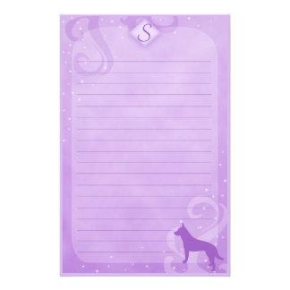 Purple Magic Australian Cattle Dog Stationery