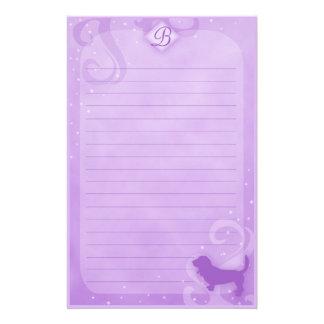 Purple Magic Basset Hound Stationery