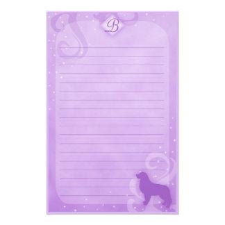 Purple Magic Bernese Mountain Dog Stationery