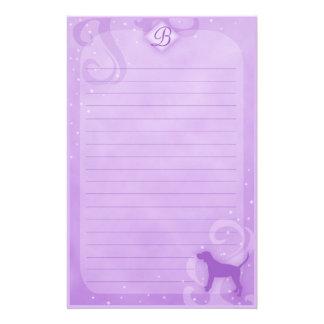 Purple Magic Black & Tan Coonhound Stationery