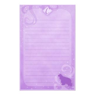 Purple Magic Cocker Spaniel Stationery