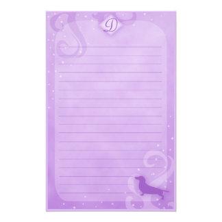 Purple Magic Dachshund Stationery