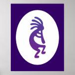 Purple Magic Kokopelli Poster