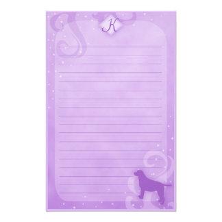 Purple Magic Labrador Retriever Stationery