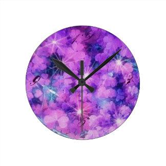 Purple Magic Nature Photo Clocks