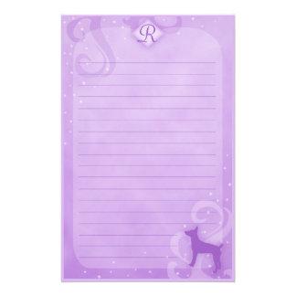 Purple Magic Rat Terrier Stationery