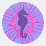 Purple Magic Sea Horse Classic Round Sticker