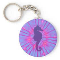 Purple Magic Sea Horse Keychain