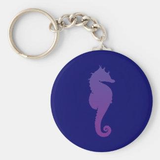 Purple Magic Sea Horse Keychains