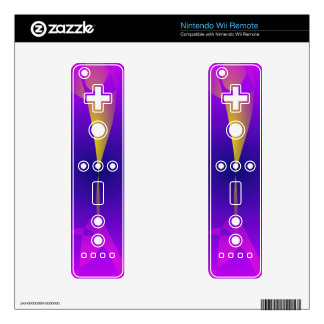 Purple Magic Decals For The Wii Remote