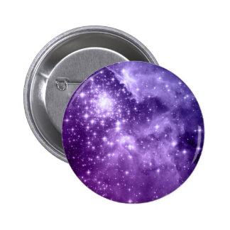 Purple Magic Stars Button