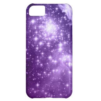 Purple Magic Stars iPhone 5C Covers