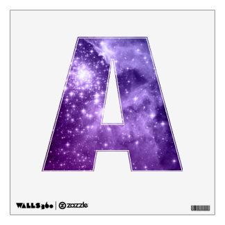 Purple Magic Stars Letter Room Stickers