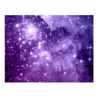 Purple Magic Stars Postcard