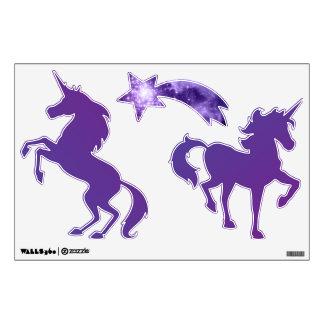 Purple Magic Stars Unicorn Wall Skin