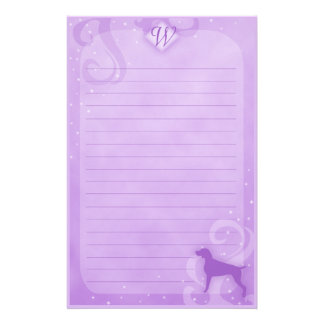 Purple Magic Weimaraner Stationery