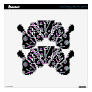 Purple magical tree PS3 controller skin