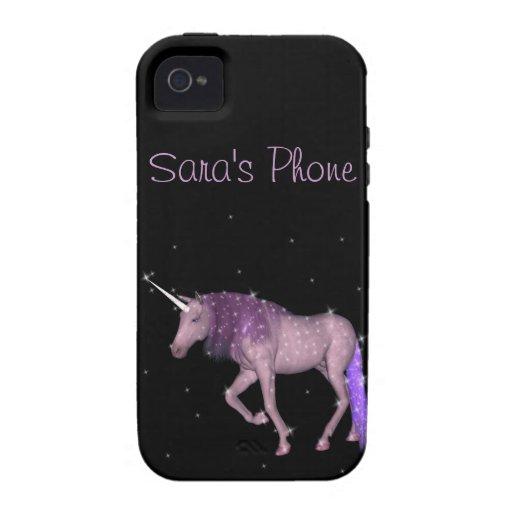 Purple Magical Unicorn iPhone 4 Cases