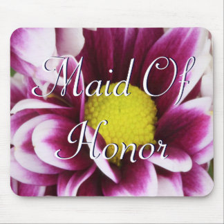 Purple Maid Of Honor Bouquet Mouse Pad