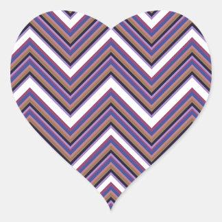 Purple Majesty Chevrons Heart Sticker