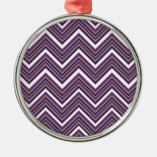 Purple Majesty Chevrons Metal Ornament