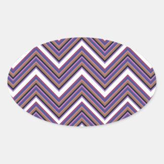 Purple Majesty Chevrons Oval Sticker