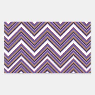Purple Majesty Chevrons Rectangular Sticker