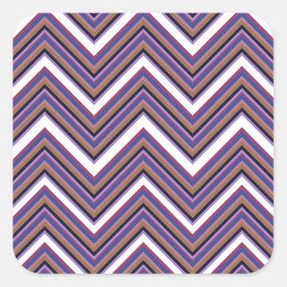 Purple Majesty Chevrons Square Sticker