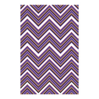 Purple Majesty Chevrons Stationery