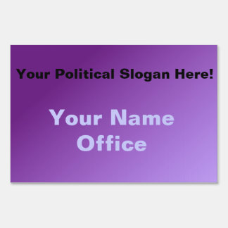 Purple Make Your Own Political Sign Lawn Signs