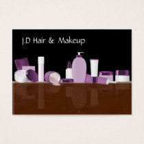 purple Makeup artist Business Cards